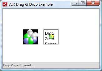 Enter drop zone