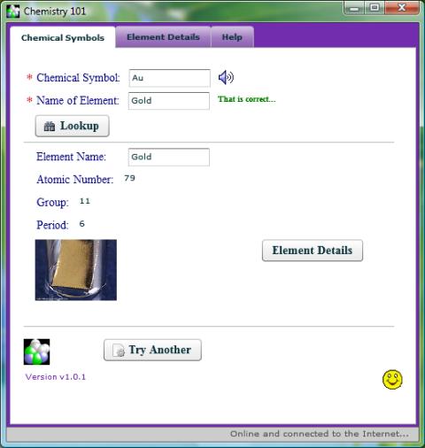 Screenshot of the main application...